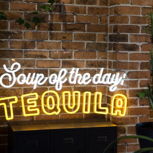Mexican custom led neon sign tequila bar restaurant